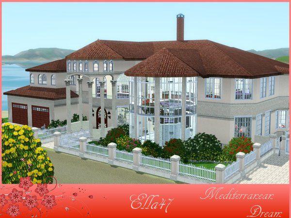 Mediterranean Dream house by ella47 - Sims 3 Downloads CC