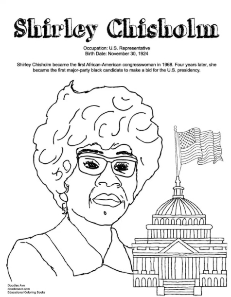 21 Printable Coloring Sheets That Celebrate Girl Power Black History Month Activities Black History Month Crafts Printable Coloring Sheets