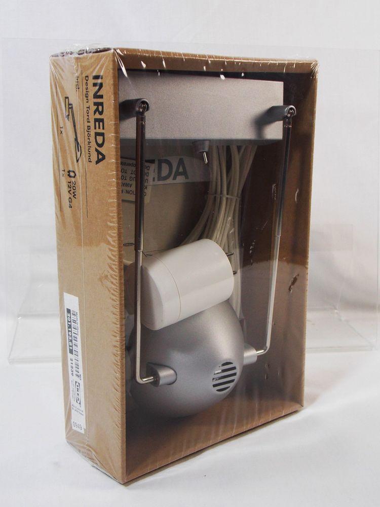 Ikea Inreda Silver Halogen Desk Wall Lamp Bookcase Cabinet Light 20w 12v New Desk Lamps Lamp Wall Lamp