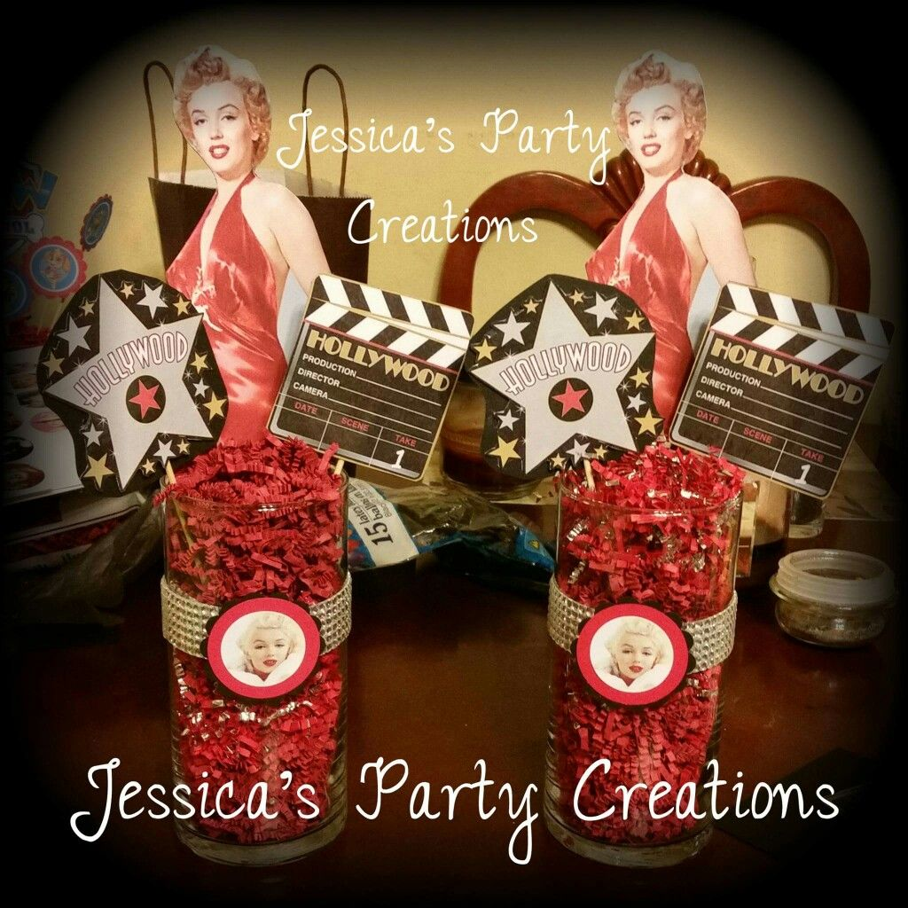 Marilyn Monroe Inspired Centerpiece Adult Birthday Party Adult Birthday Party Themes