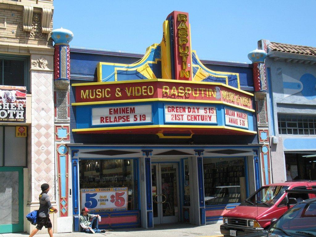 Rasputin Music Berkeley Ca Record Store Business Cards