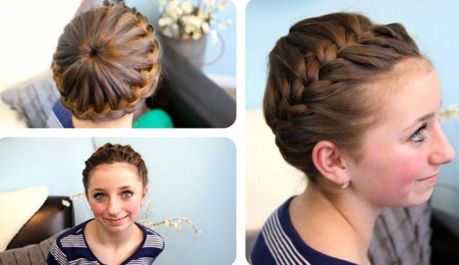 Peinados divertidos para tus hijas Moda y tendencias Pinterest - peinados de nia faciles de hacer