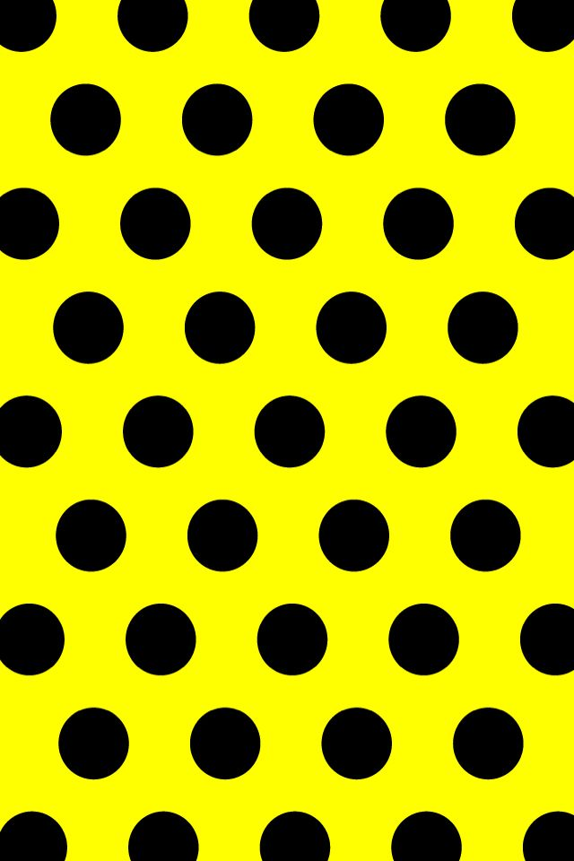 Black And Yellow You Know What It Is Black And Yellow Dot Polka