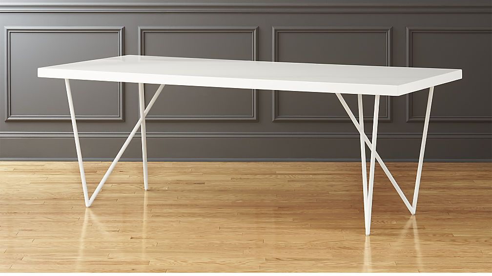 Dylan 36 X80 White Dining Table Cb2 White Dining Table