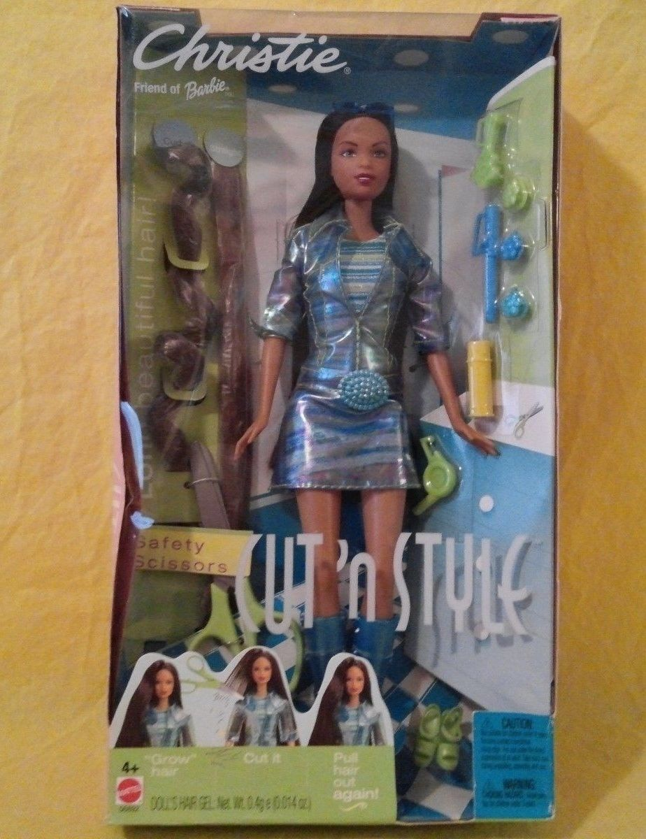 2002 new mattel friend of barbie doll christie cut n