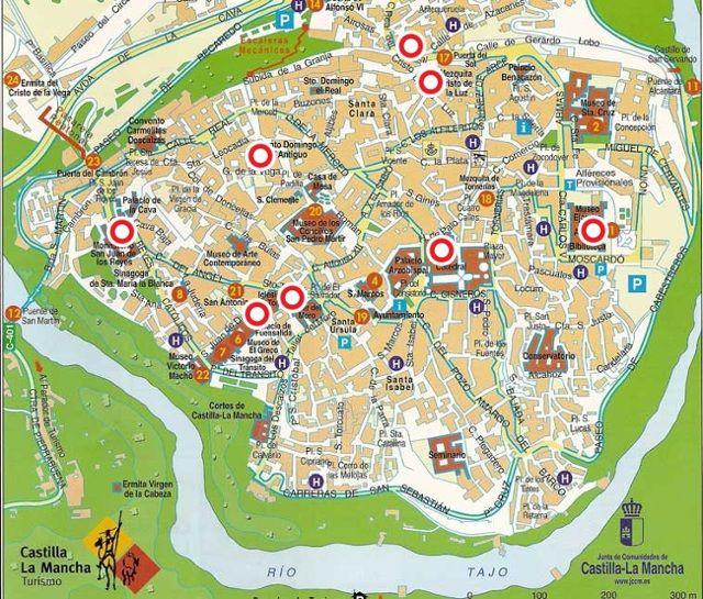 Mapa Callejero De Sevilla.Callejero Casco Antiguo De Toledo Mapa Turistico Mapa