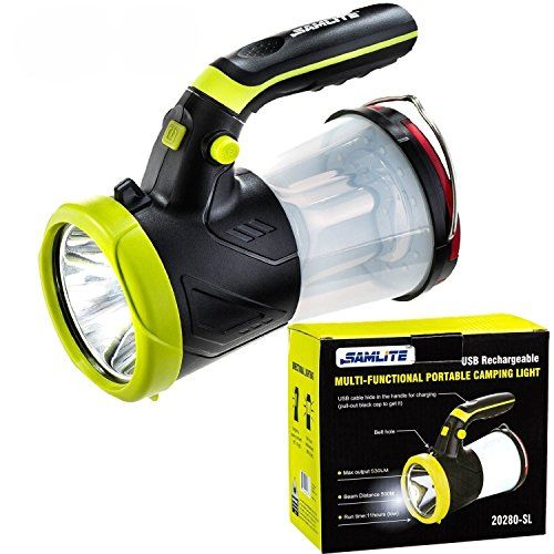Rechargeable 1000Lm White+Blue+Red LED Spotlight Searchlight Headlight Headlamp