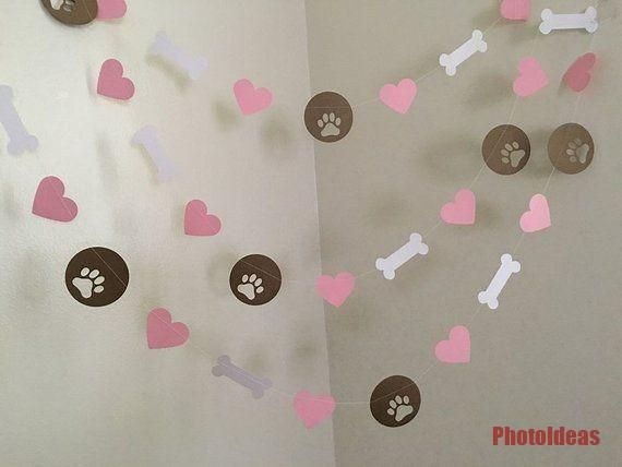 Puppy Dog unter dem Motto Paper Garland Puppy Geburtstag Dekorationen Dog Birthday Party Pawt... #katzengeburtstag