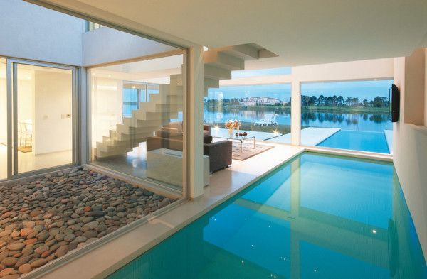 Step U2014 Or Swim U2014 Inside A Dream House In Buenos Aires With Indoor Outdoor  Pools And Endless Views Of Sky And Water. Vanguarda Architects (more  Pictures/info ...