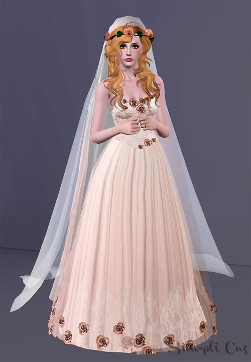 Sims 3 Finds - Ethereal Bride - wedding dress at Sim-pli Caz | Sims ...