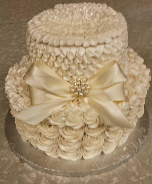 Ivory 2 tier wedding cake | Wedding cake ideas | Pinterest | Tier ...