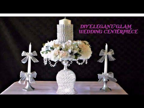 Diy elegantglam wedding centerpiece youtube centerpieces diy elegantglam wedding centerpiece youtube junglespirit Choice Image