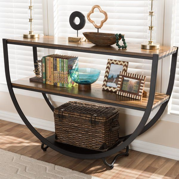 Featuring A Rounded Base And 3 Tier Design This Eye Catching Console Table