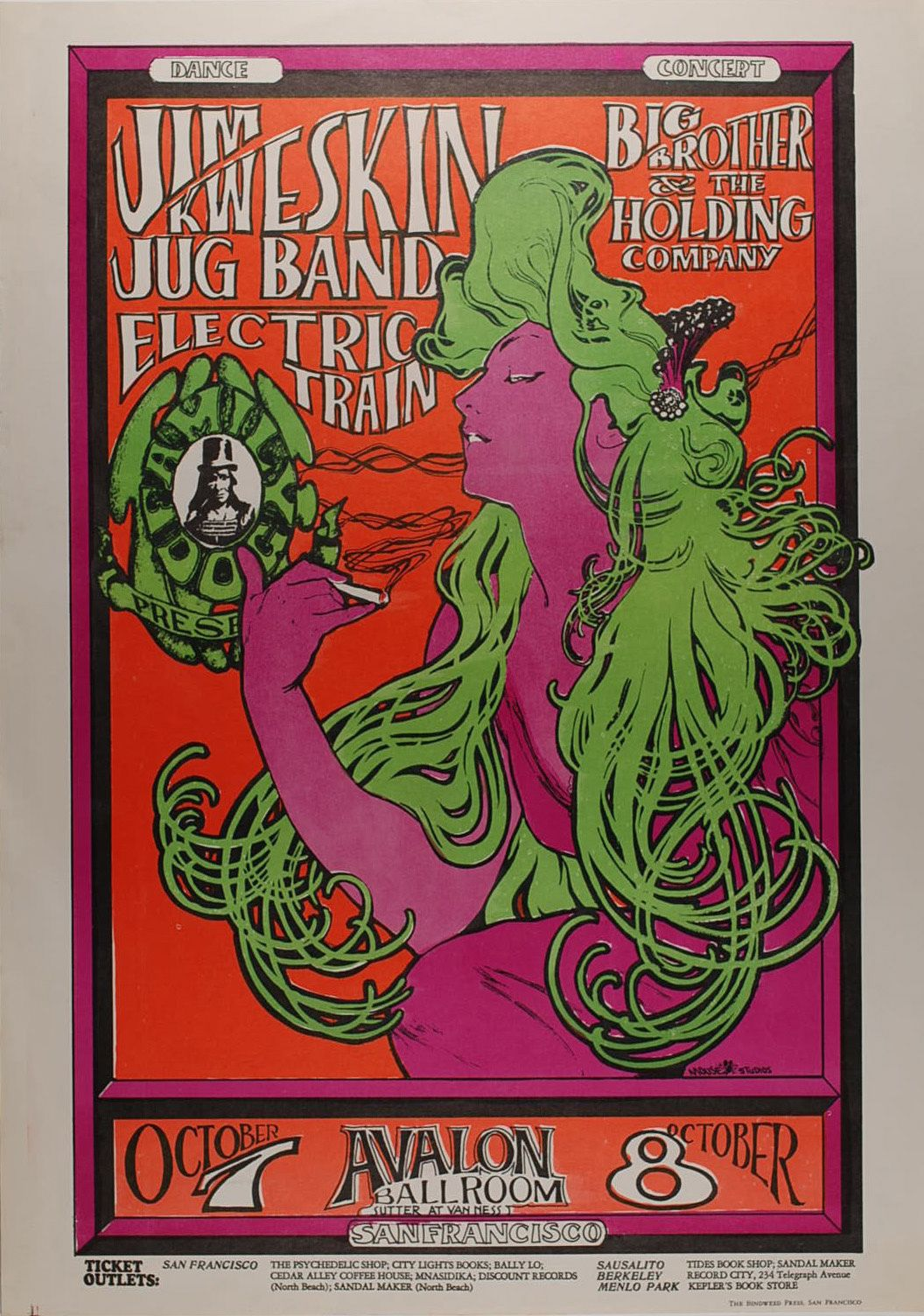 Concert at the Avalon Ballroom (Jim Kweskin Jug Band; Big Brother and the Holding Company; Electric Train)