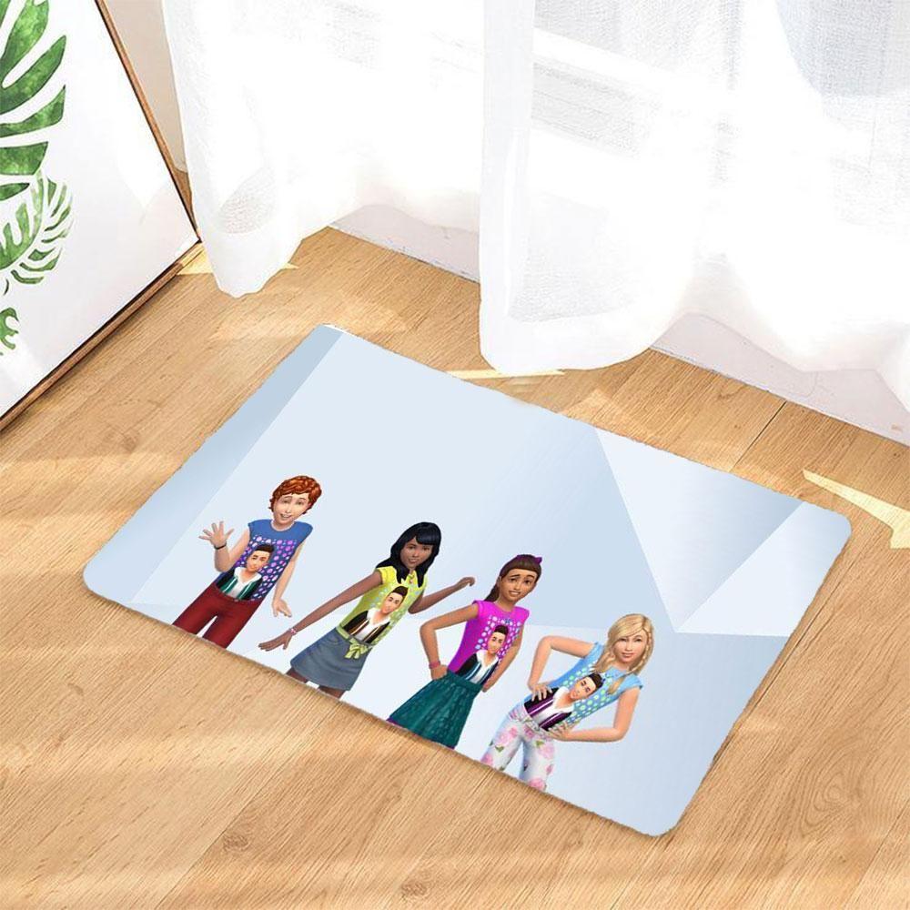 Die Sims Badematte Rutschfest Und Waschbar Badezimmer Teppich Fussmatte 3d Druck Fussabtreter Weiss Electronic Products Polaroid Film