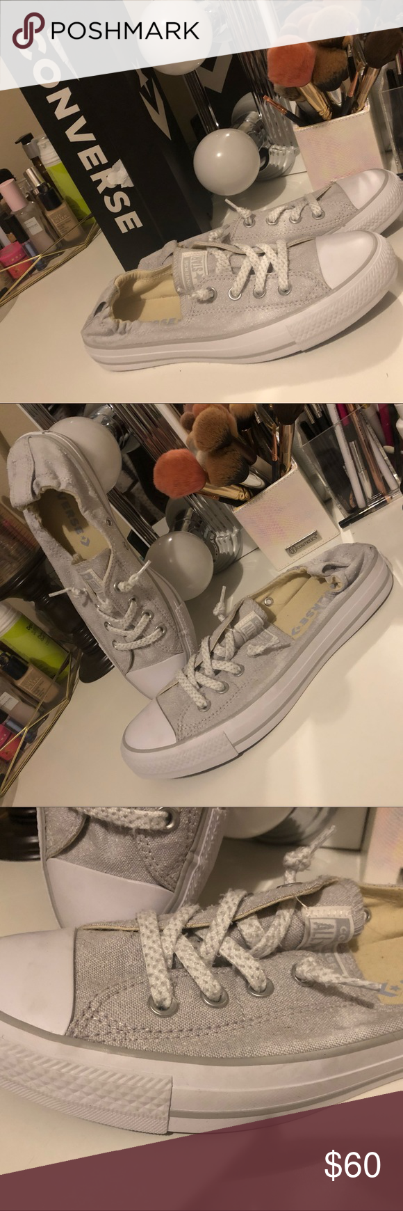 53f5f27bb0e Converse Shoreline Slip Sneaker in Oyster Gray Tried on once and walked  around house and realized they didn t fit me. Brand new.