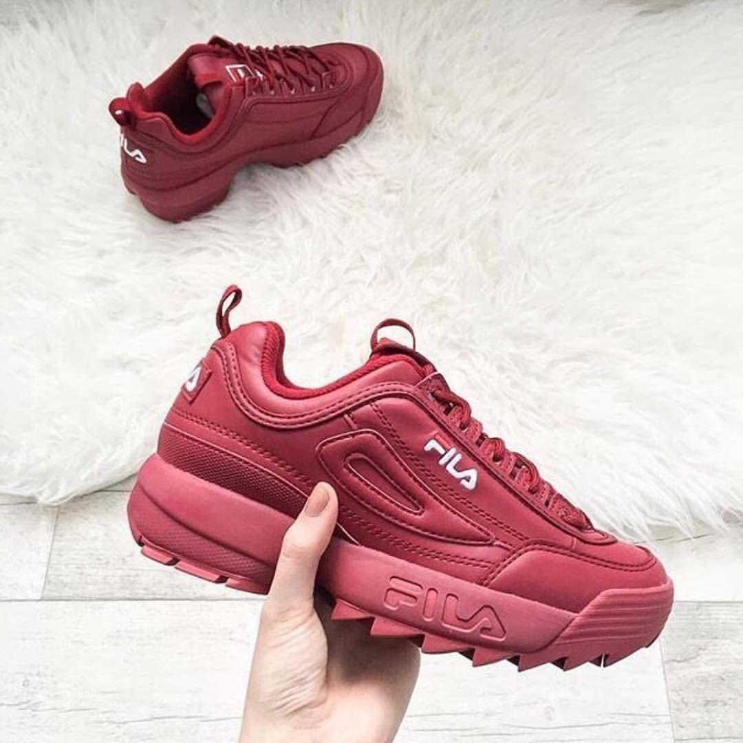 Red Sneakers Wine Tendance FilaHot Pinterest 2018• l1c3KTFJ