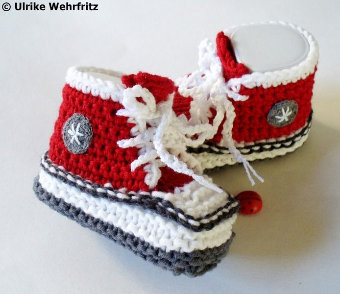 Babyschuhe  12 cm von stricklienes lädchen auf DaWanda.com