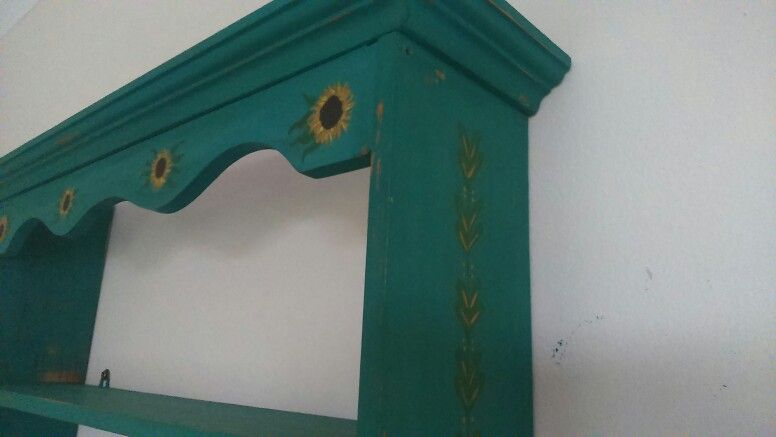 Upcycled painted shelving,  was orange pine