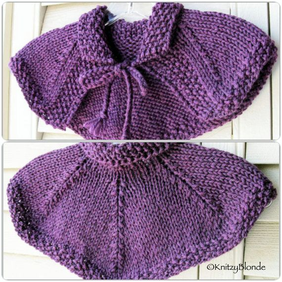 Claire Cape Capelet Shawl Outlander Hand Knit Made by KnitzyBlonde