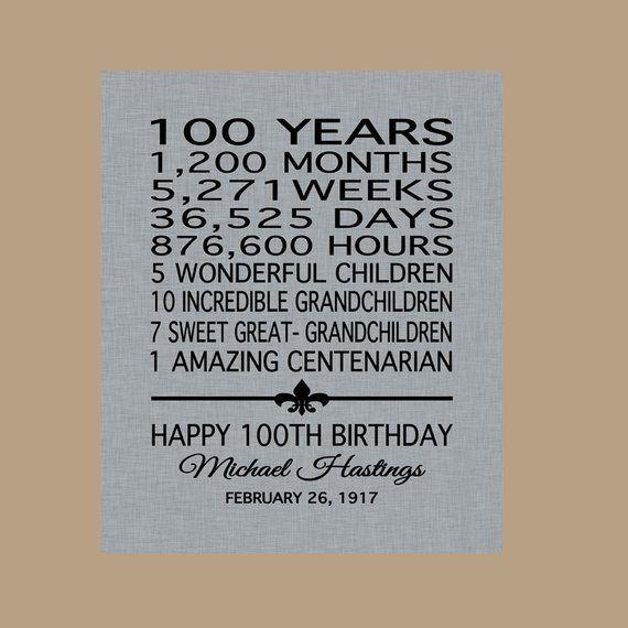 100 Birthday Sign, 100 Birthday Print, 100 Birthday Gift, Birthday Sign, 1919 Birthday Sign, Party Sign, Digital Download