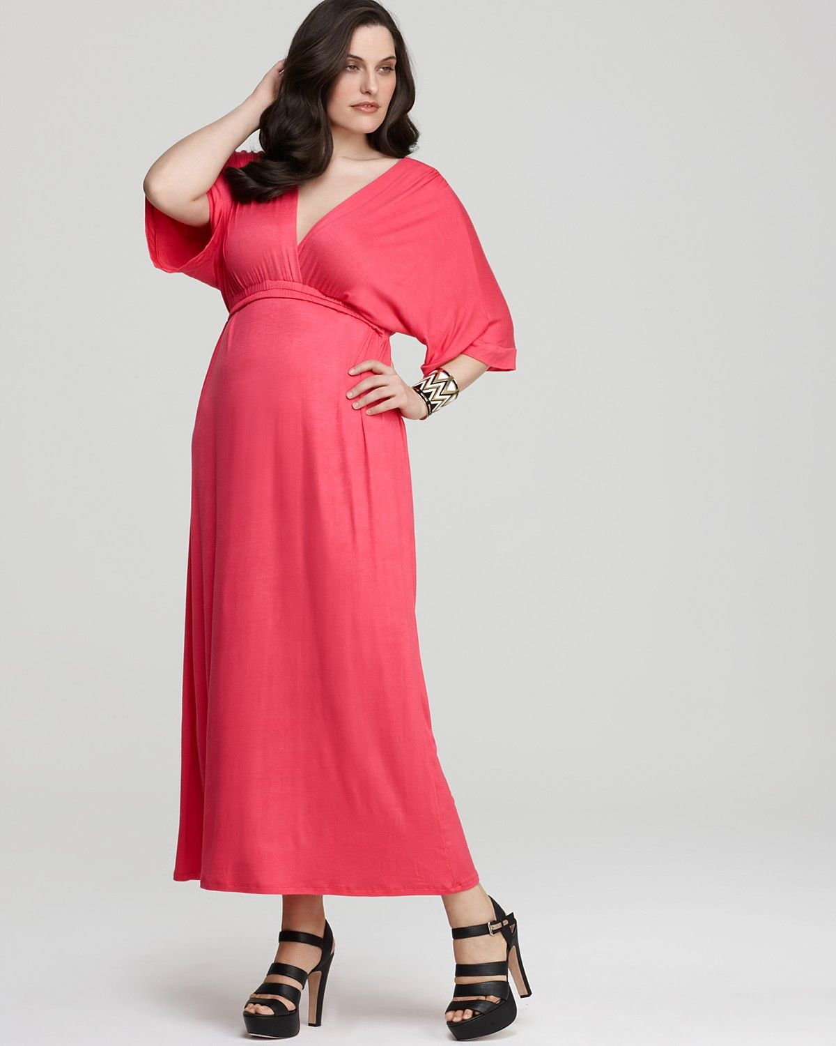 pink plus size dress with sleeves images - dresses design ideas