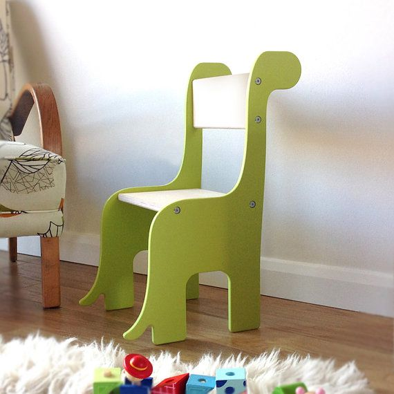 Brontosaurus Dinosaur handmade children\'s wooden chair. Available in ...