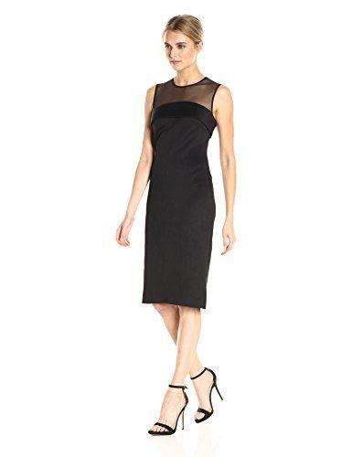 43+ Calvin klein illusion sleeve sheath dress inspirations