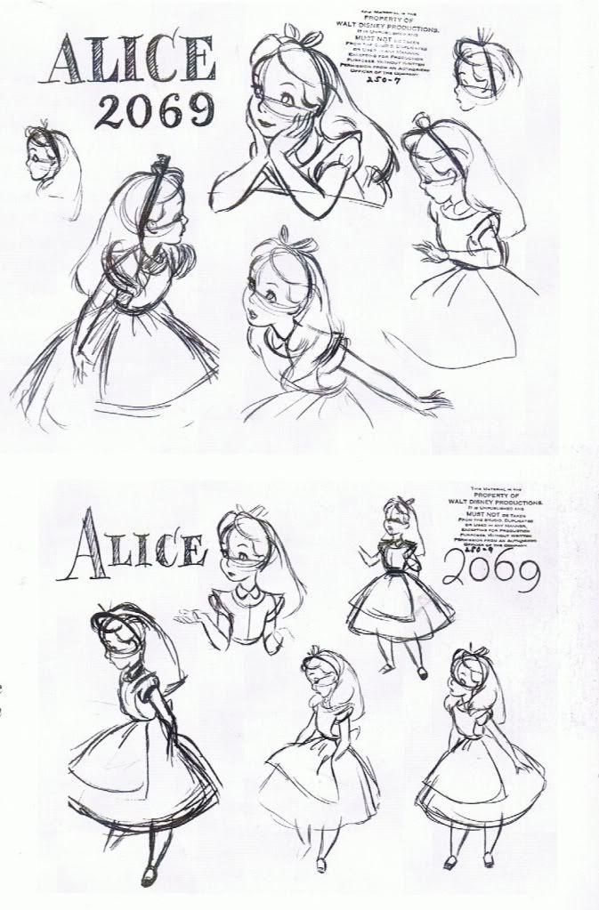 Disney Character Design References : Alice model sheet character design references キャラクター