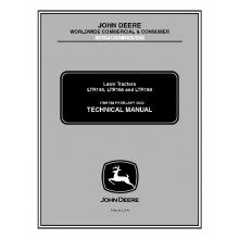 John Deere LTR155, LTR166 and LTR180 Lawn Tractors Technical Manual