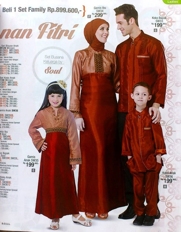 Foto Baju Batik Couple Ayah Ibu Dan Anak Galeri