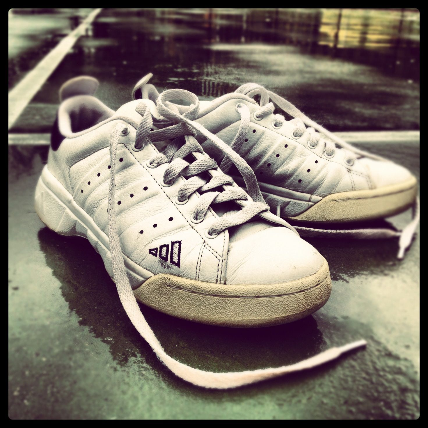 These are my 'Tennis by Lisa' Classics: I still own these adidas tennis  shoes. Circa: at some point in the
