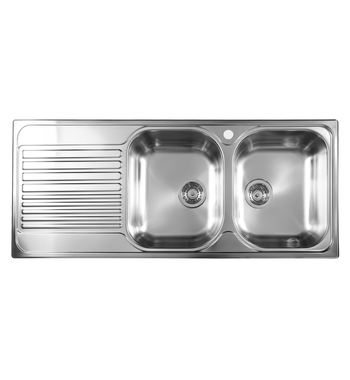 Blanco BTIPO8SLHD Double Bowl Left Hand Drainer Sink ...