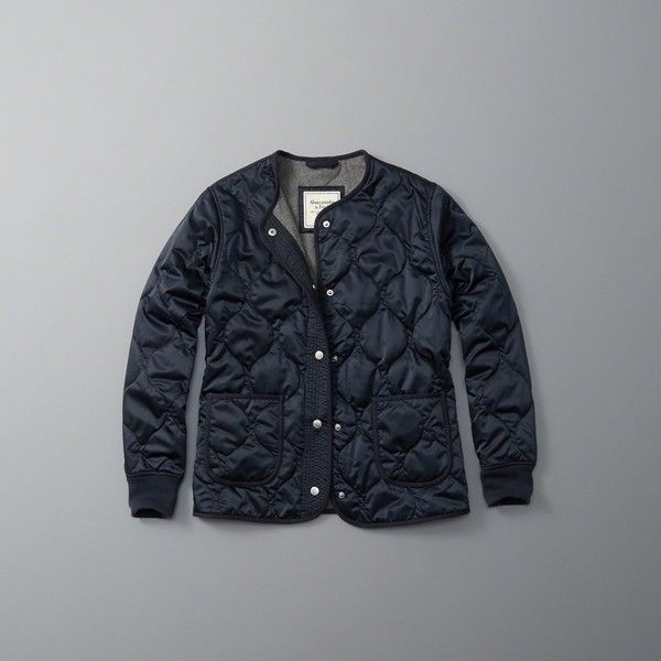 Abercrombie & Fitch Quilted Liner Jacket ($120) ❤ liked on ... : quilted jacket liner - Adamdwight.com