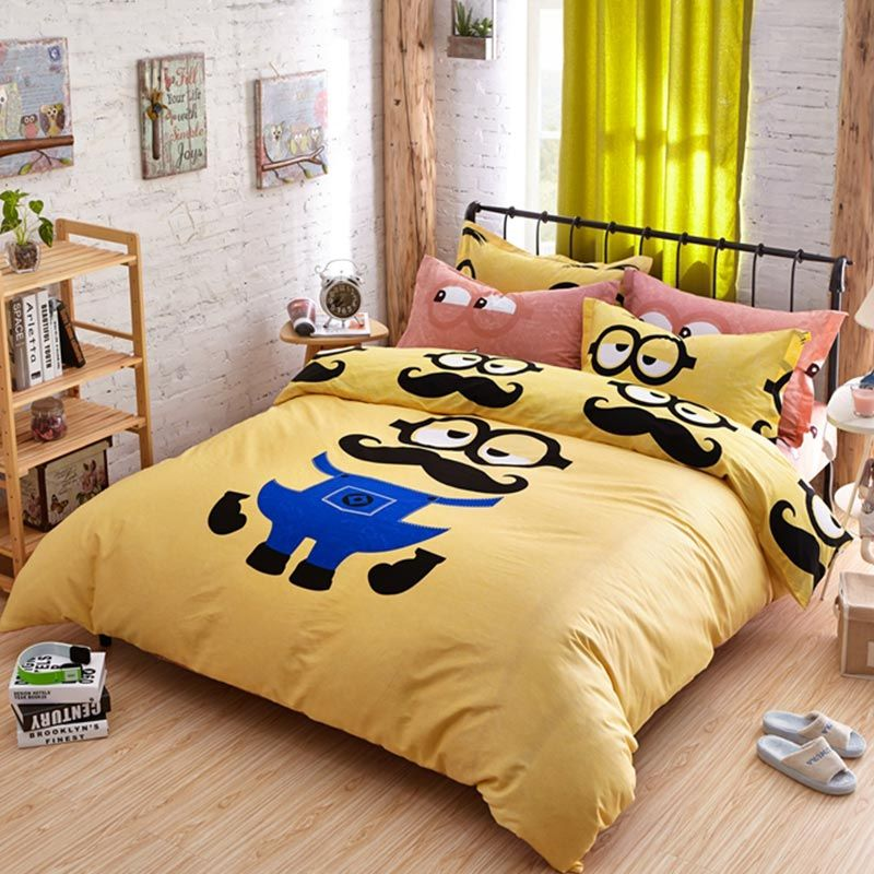 Minion Queen size bedding set Queen size beds, Queen