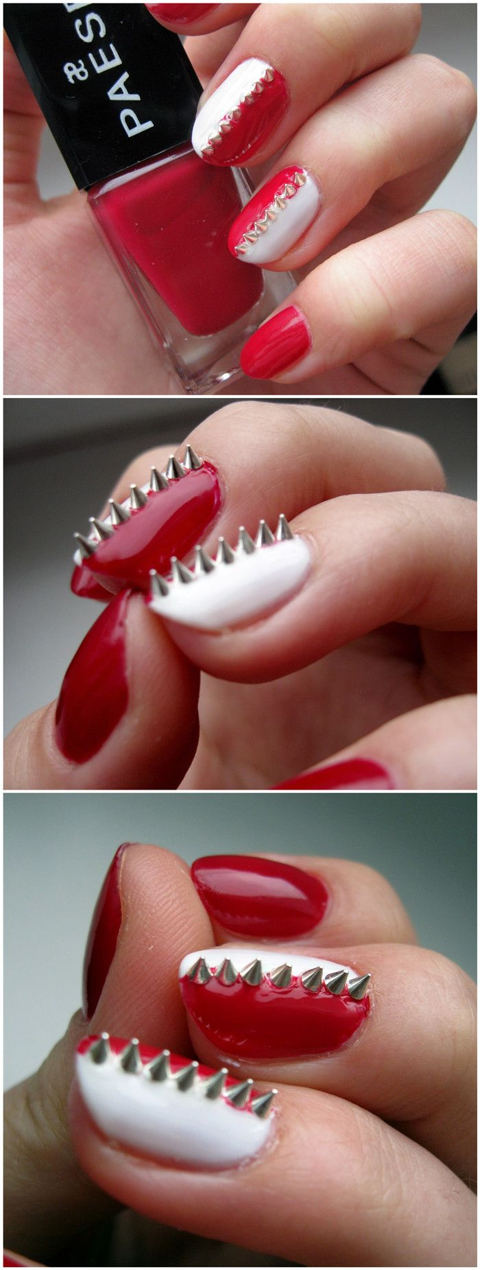 awesome nails! so spikey. #spikes #mani #nailart #studs | Cool Nails ...