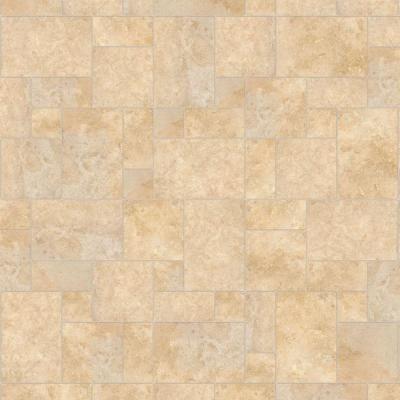 Hdx Take Home Sample Castle Travertine Vinyl Universal Flooring 8 In X 10 In Travertine Flooring Natural Tile