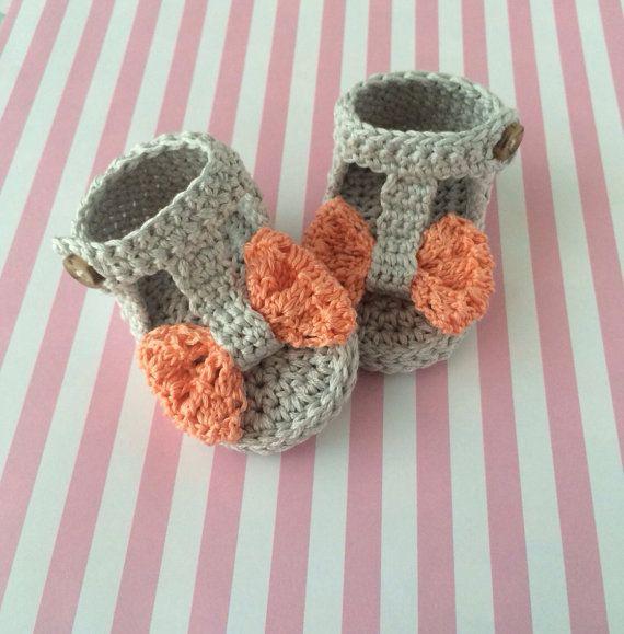 Baby shoes crochet baby sandals summer sandals por LovelyKensie ...