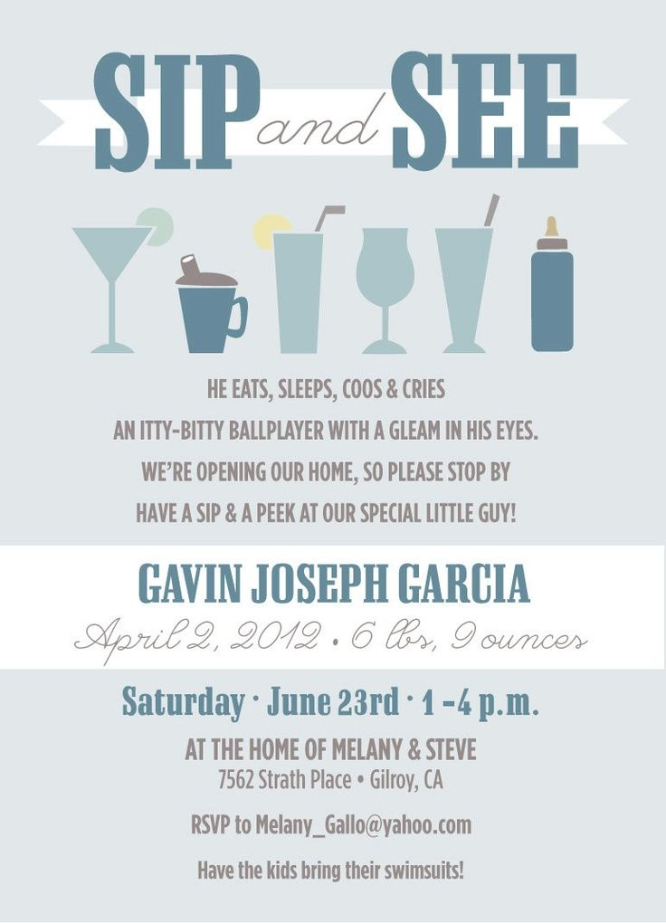 Baby Sip and See Invitations 250 via Etsy Oh baby