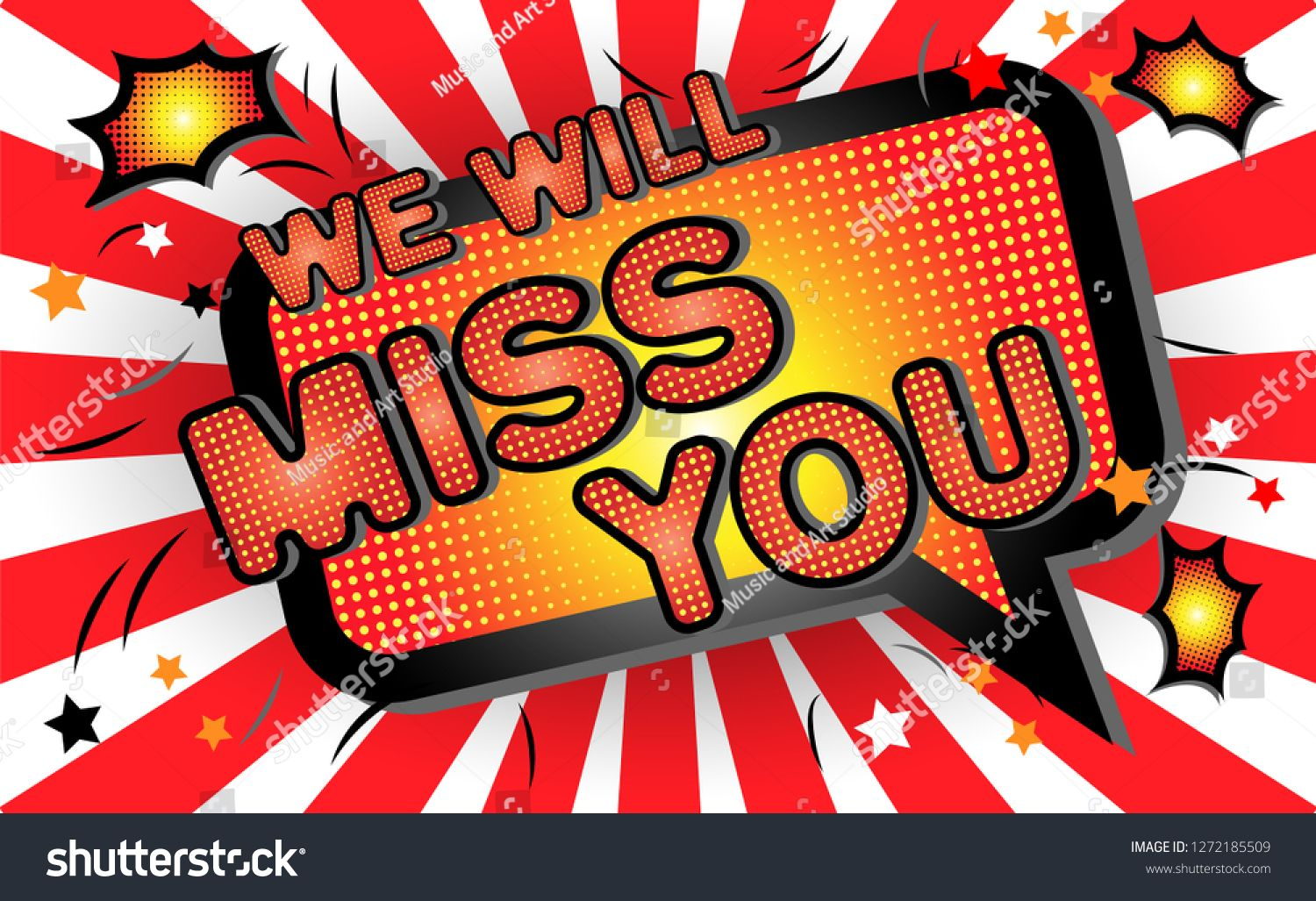 Farewell Party Template We Will Miss You Text Design Pop Art Comic Style Colorful Background For T Shirt Print Banner Flye Super Party Party Background Party