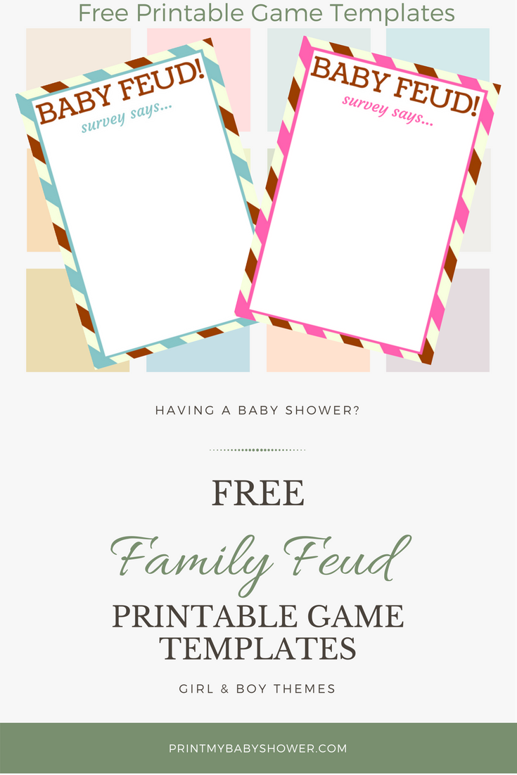 Family Feud Questions For Baby Shower : family, questions, shower, Shower, Family, Questions, Templates, Game,, Shower,, Games