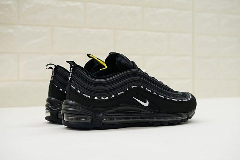 783a2ccd Kappa x Nike Air Max 97 Black/White in 2019 | shoes | Nike air max ...
