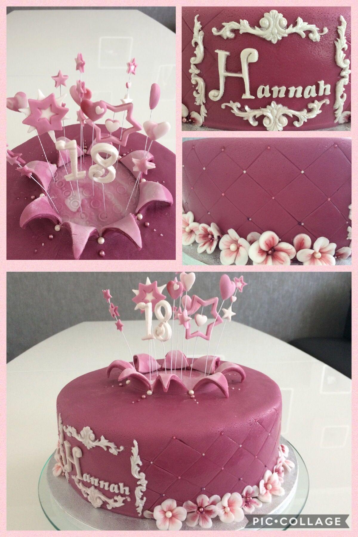 18th Anniversary Birthday Cake Fondant Explosion Cake Elegant 18