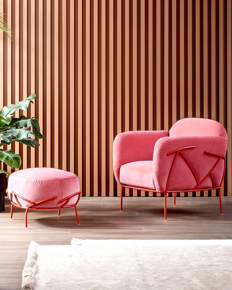 Did someone say pink? #IHaveThisThingWithPink The Bonaldo Corallo Armchair and footstool making all our pink dreams come true, available on our website now. #Armchair #Furniture #ModernFurniture #interiorstyle #midcenturymodern #luxury #currentdesignsituation #SmallSpaceSquad #HomeRenovation⁠ #interiorlover #finditstyleit #modernhome #interiordetails #interiorstylist  #homedetails #homedecorideas #myhomevibe #eclecticdecor #currentdesignsituation #myhousebeautiful #housegoals
