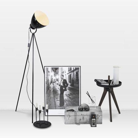 Stehleuchte Rytel schwarz - Innenbeleuchtung - lampenundleuchten - wohnung mit deckenfluter einrichtern modern