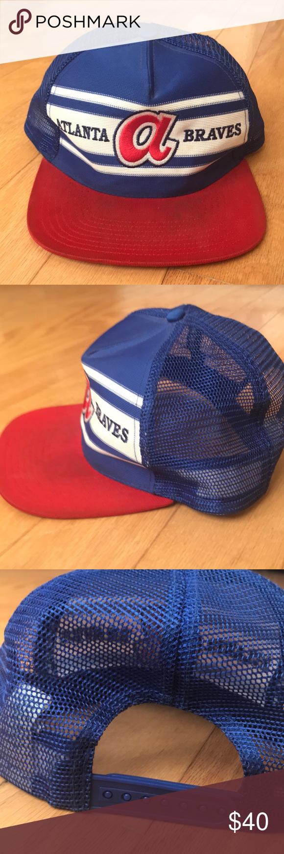 Vintage Atlanta Braves Baseball Hat Rare 70 80s Atlanta Braves Baseball Baseball Hats Atlanta Braves