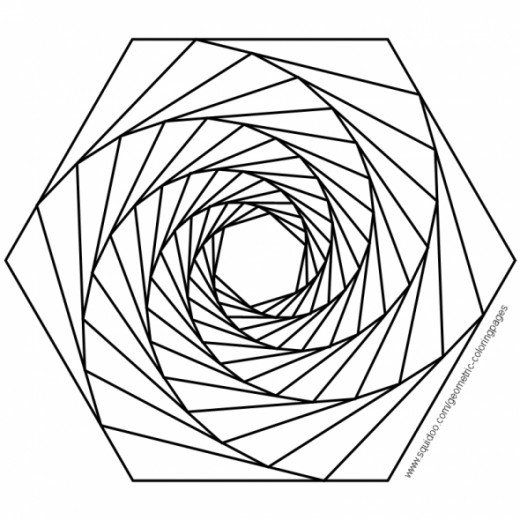 Geometric Coloring Pages | Purpose, Squares and Mandala coloring