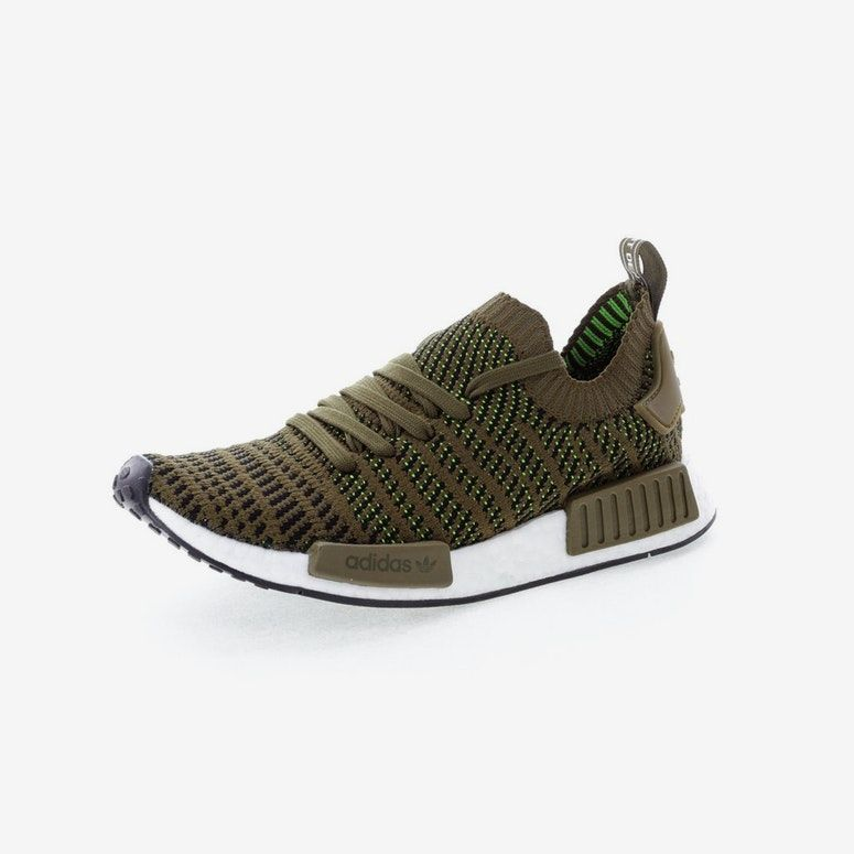 size 40 outlet store skate shoes Adidas Originals NMD R1 STLT Primeknit Green/Black/White ...