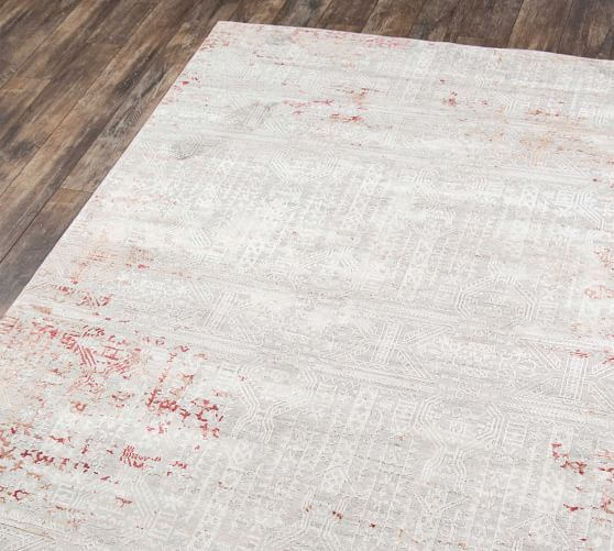 Krista Synthetic Rug Red in 2020 Synthetic rugs, Red