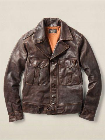 Leather Quinn Jacket - RRL Cloth - RalphLauren.com
